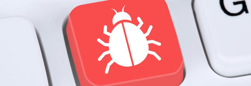 Internet Konzept Computer Virus oder Trojaner online Sicherheit beim surfen